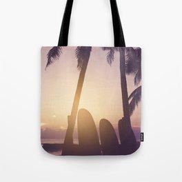Surfer's Tropical Dreamscape - Coastal Sunset Landscape Tote Bag