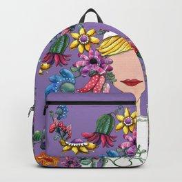I Love the Flower Girl Lavender Backpack
