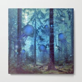 Magical Oceanic Forest Metal Print