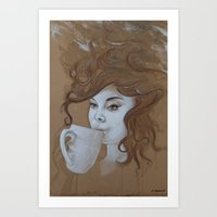 Caffeine for Thought Art Print
