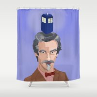 dr who Shower Curtains featuring Dr Who  by Kervin