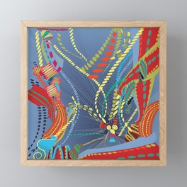 Abstract Stripes Framed Mini Art Print
