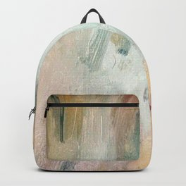 Gentle Beauty - an elegant acrylic piece in deep purple, red, gold, and white Backpack