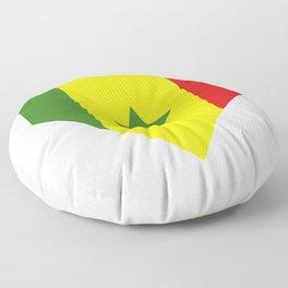 Senegal flag Floor Pillow