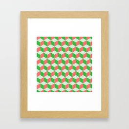 Christmas Escher Print Framed Art Print