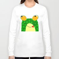frog Long Sleeve T-shirts featuring Frog by Jessica Slater Design & Illustration