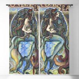 """Under the Sea - A Mermaid"", by Fanitsa Petrou Blackout Curtain"