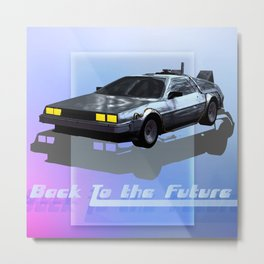 Back to the Future Metal Print