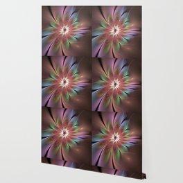 Abstract Fantasy Flower, Fractal Art Wallpaper