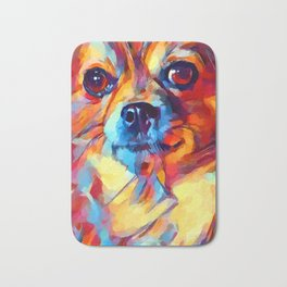 Chihuahua Watercolor Bath Mat