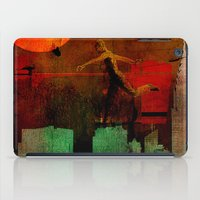 takmaj iPad Cases featuring Jump on the green city by Ganech joe