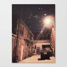 Blizzard At Photography Studio Canvas Print