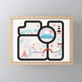 Map of Japan Framed Mini Art Print