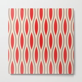 Classic Ogee Pattern 916 Metal Print