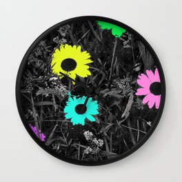 Nobody Knows a Wildflower Sill Grows Lyrics Wall Clock