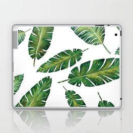 Decorative Watercolor Tropical Leaves Pattern Laptop & iPad Skin
