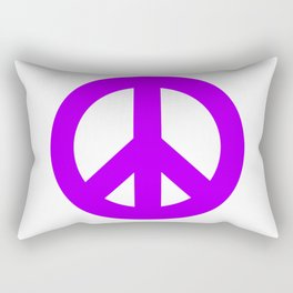 Purple Peace Sign, Power of Peace, Power of Love, Social Justice Warrior, Super Sharp PNG Rectangular Pillow