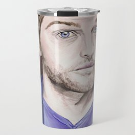Misha Collins, acrylic painting Travel Mug