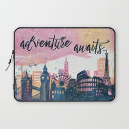Adventure Awaits Watercolor Laptop Sleeve