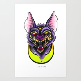 Bratty Bat. Art Print