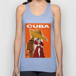 Vintage Travel Ad Cuba Unisex Tank Top