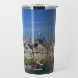 Painted Ladies San Francisco CA Travel Mug