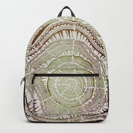 Tree Rings – Watercolor Ombre Backpack