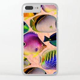 Undersea living colors Clear iPhone Case