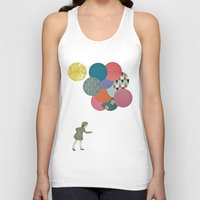 party Tank Tops featuring Party Girl by Cassia Beck