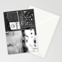 New York Fire and Police black and white Stationery Cards