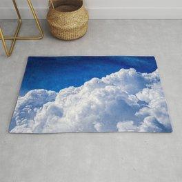 White Cumulus Clouds In The Blue Sky Rug