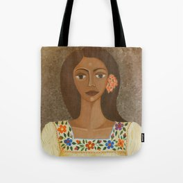 More than flowers she sells illusions Tote Bag