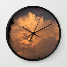 Orange Hue Wall Clock