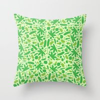vegetable Throw Pillows featuring Vegetable salad by Tony Vazquez