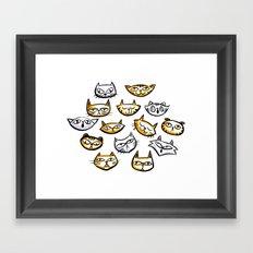 Cat Clowder Framed Art Print