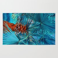 palm tree Area & Throw Rugs featuring Palm Tree by DistinctyDesign