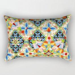 Elizabethan Blossom Starburst Rectangular Pillow