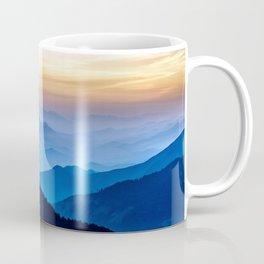 Misty mountains at dusk Coffee Mug