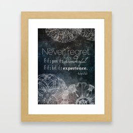 Never Regret Framed Art Print