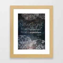 Never Regret Framed Art Print