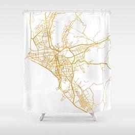 LIMA PERU CITY STREET MAP ART Shower Curtain