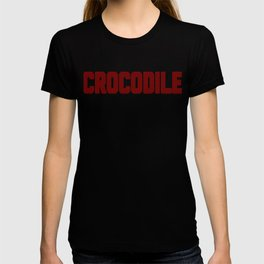 Crocodile Dotted Text Design T-shirt