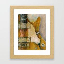 Les Paul, Semi-Hollowbody Goldtop, built in Kalamazoo between 1972 & 75 Framed Art Print