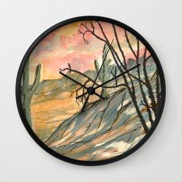 Southwestern Art Desert Painting Wall Clock