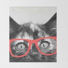 Sassy Kitten Throw Blanket