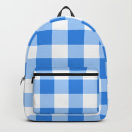 Blue & White Gingham Backpack