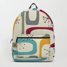 Mid Century Modern Shapes 01 #society6 #buyart  Backpack