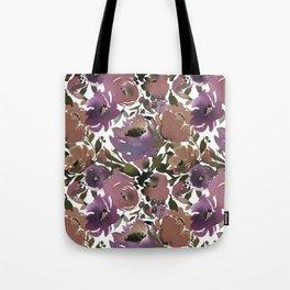 Soft Lilac Blossom and Foliage on White  Tote Bag