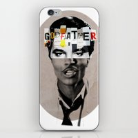 godfather iPhone & iPod Skins featuring Godfather Mix 1 white by Marko Köppe