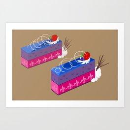 bi-layer mousse cake Art Print